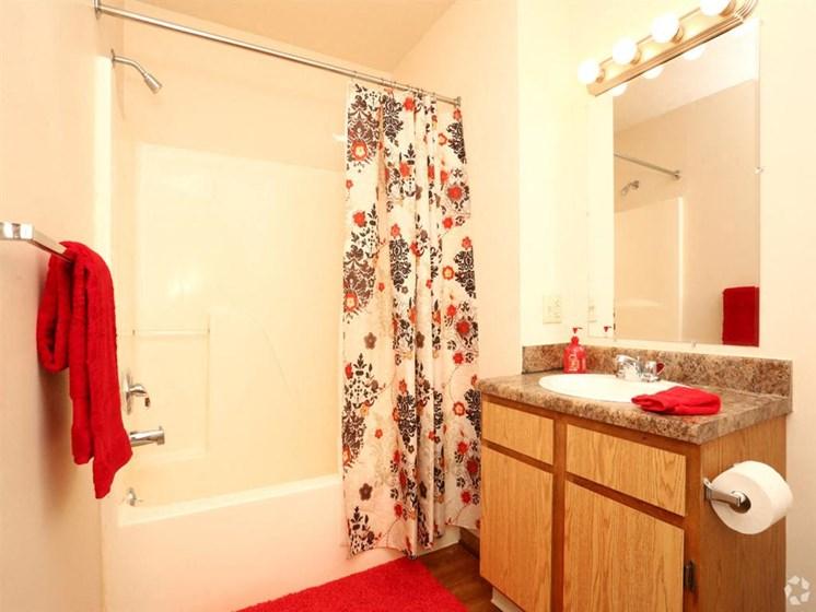 apartment bathroom_Lakestone Apartments, Ann Arbor, MI