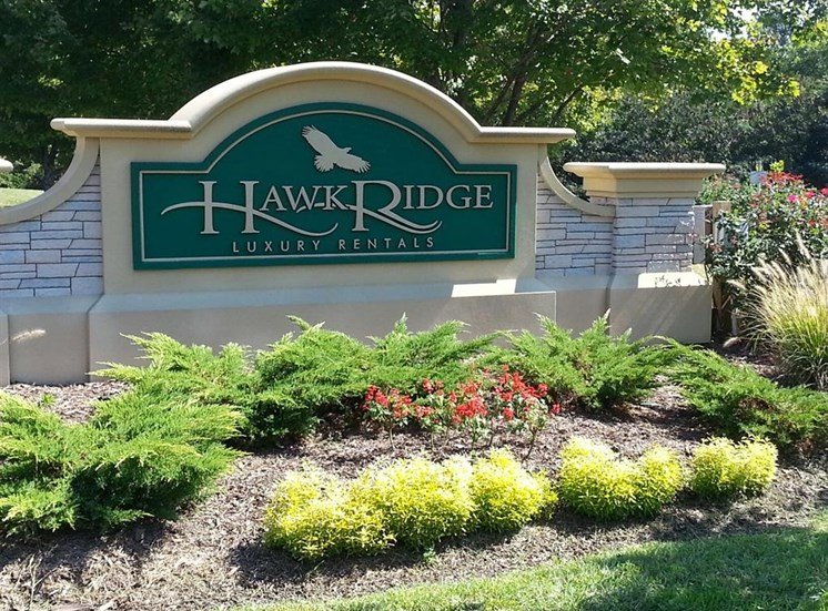 Hawk Ridge Apartments in Clemmons NC SIgn