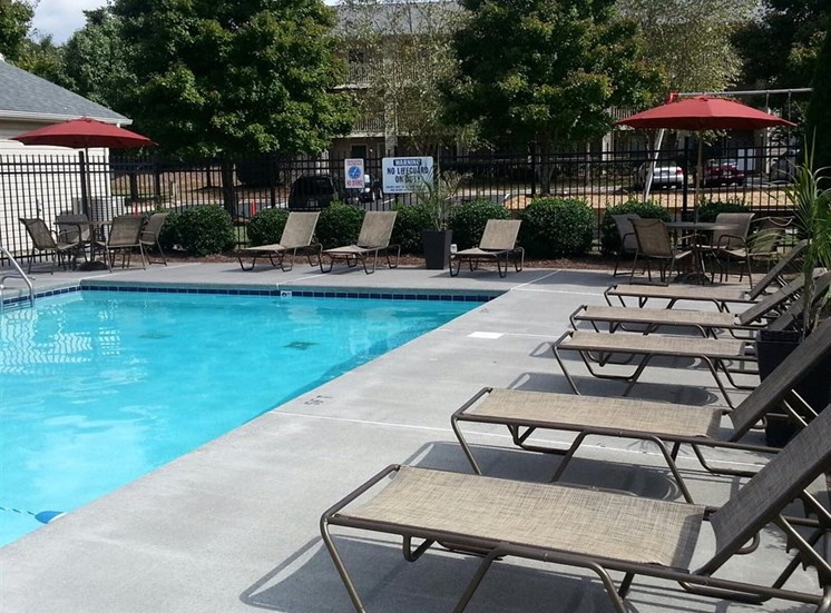 Swimming Pool at Hawk Ridge Apartments in Clemmons NC