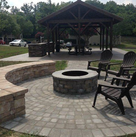 Fire Pit at Hawk Ridge Apartments in Clemmons NC