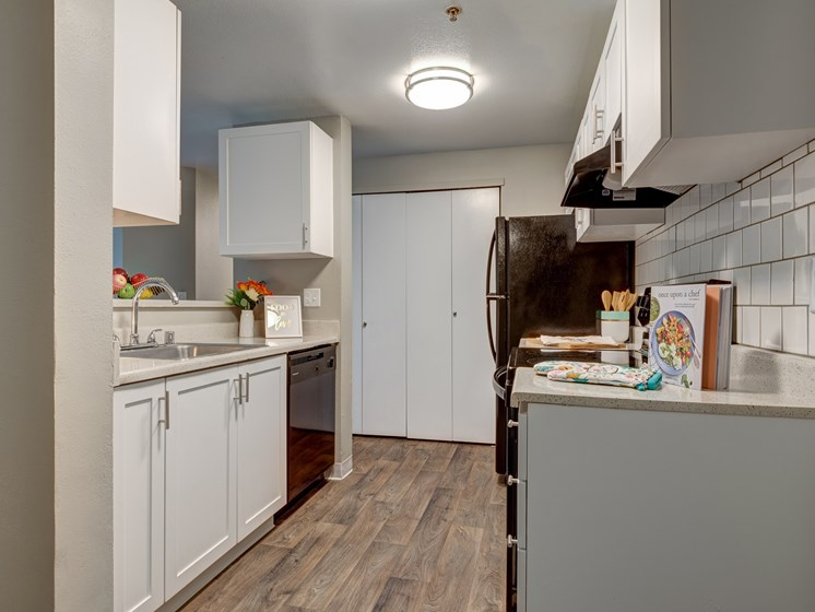 The Stinson Apartments Kitchen Counters and Cabinets