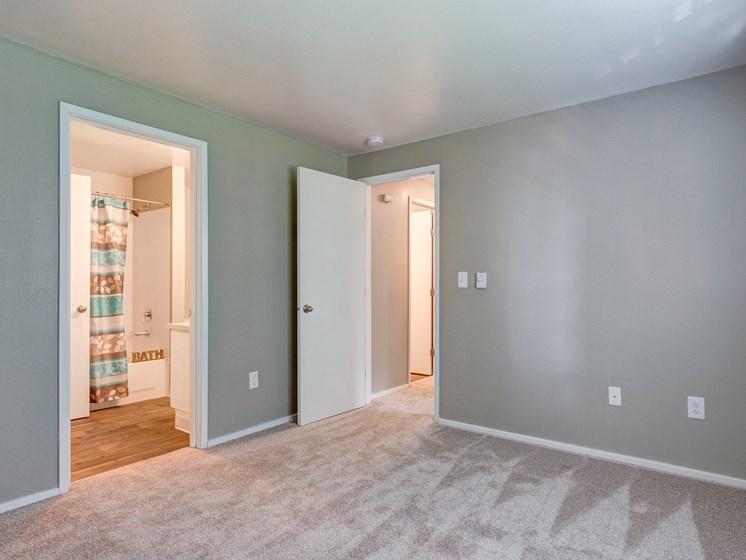 The Stinson Apartments Bedroom and Bathroom Door