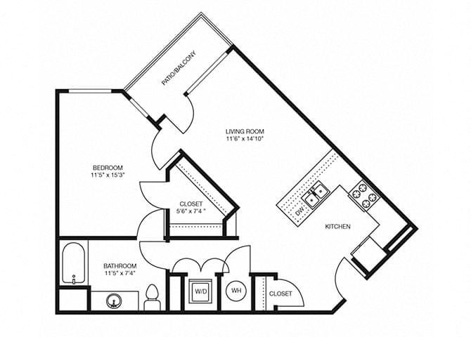 A6 floorplan at The Douglas Apartments in Denver