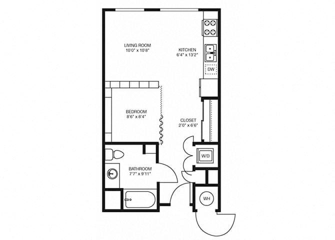 S3 floorplan at The Douglas Apartments in Denver