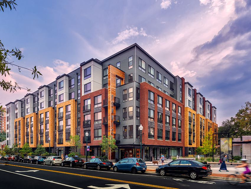 Exterior shot of Fenwick Apartments in Silver Spring, MD