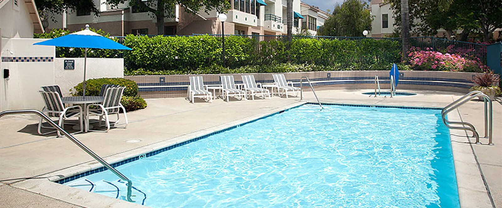 The Heated Salt-Water Pool Is Open Year-Round at Cypress Meadows Senior Apartments, Ventura, CA