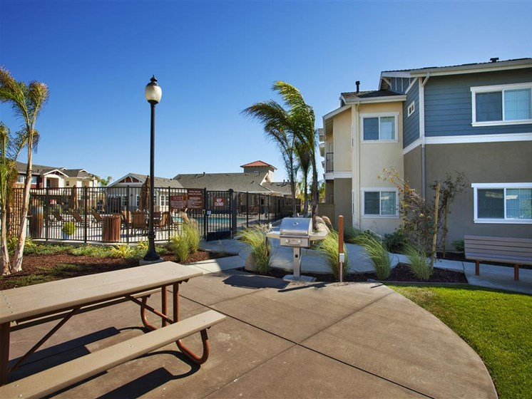 Internal walking trails in our community, at Siena Apartments, Santa Maria, CA