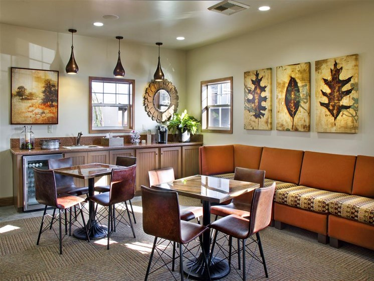 Posh Lounge Area In Clubhouse, at Siena Apartments, Santa Maria