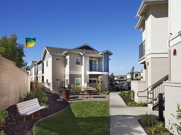 Walking trails, at Siena Apartments, California, 93458