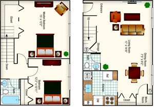CS - (Jefferson) 2BR - 1008 Sq Ft