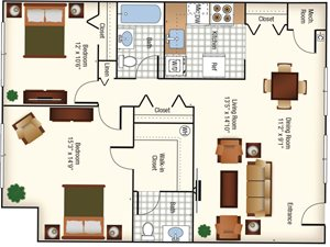 CS - (Lincoln) 2BR - 1026 Sq Ft