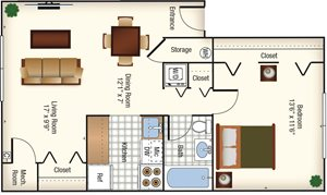 CS - (Washington) 1BR - 700 Sq Ft