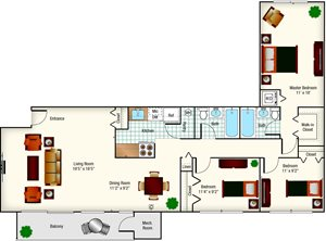 GC - (Mount Vernon) 3BR - 1343 Sq Ft