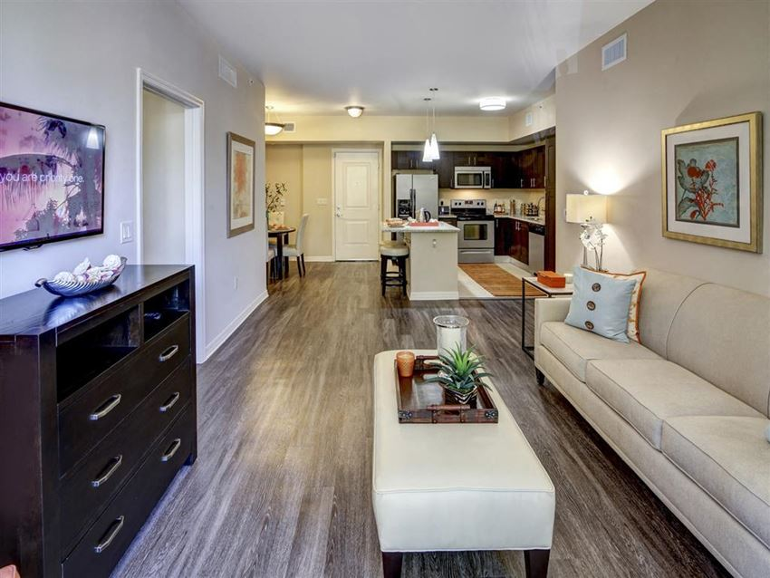 Living Room unit layout for apartments in plantation florida