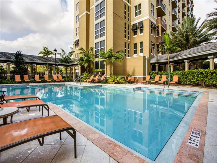 Pool view during daytime for apartments in one plantation