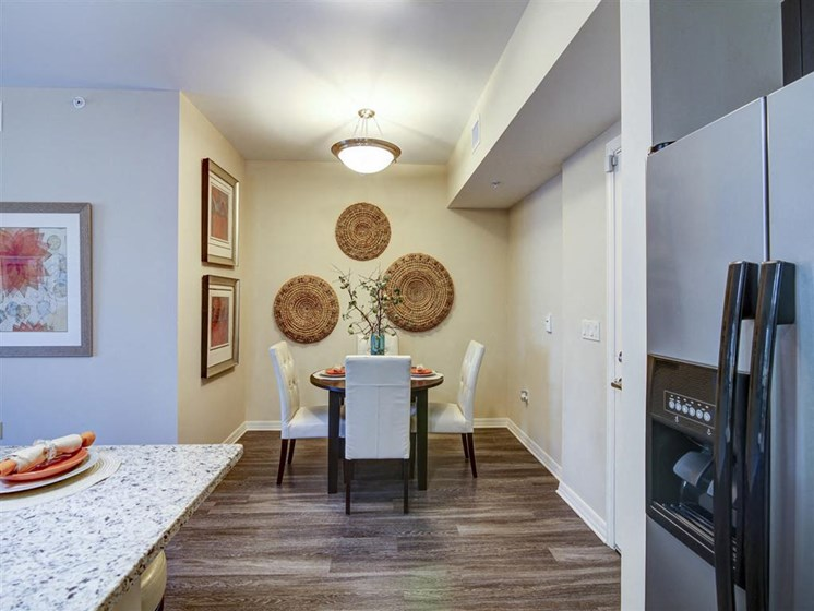 Dining Area with table and chairs at apartment building in plantation florida