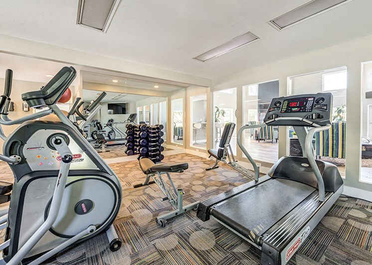 Fitness Center with Bike and Treadmills