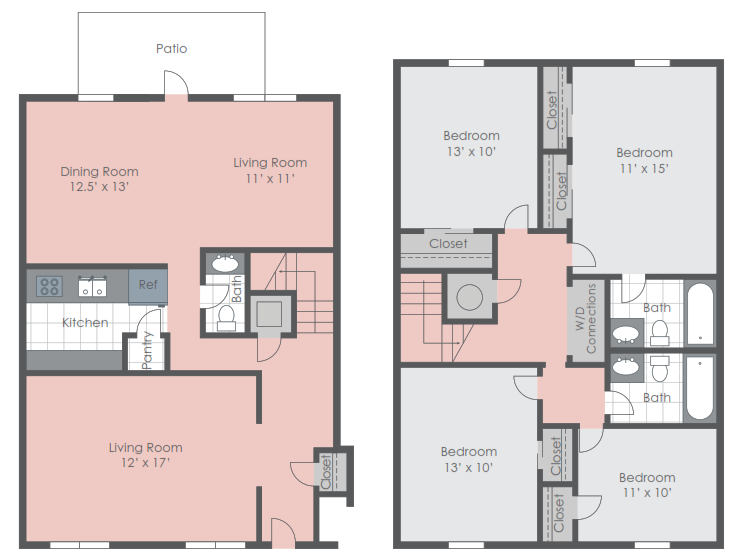 Four bedroom floorplan layout