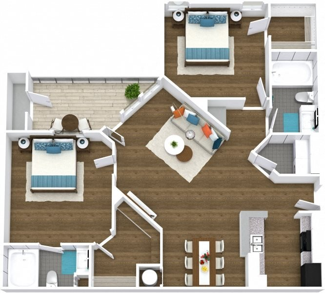 Floor Plans Of The Preserve At Lakeland Hills Apartments