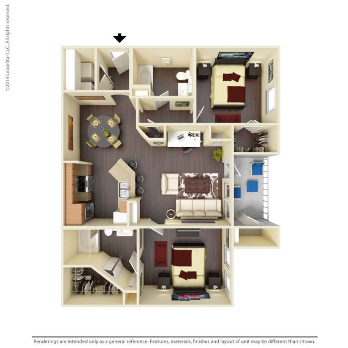 Mesquite Floor Plan at Residence at Midland, Texas