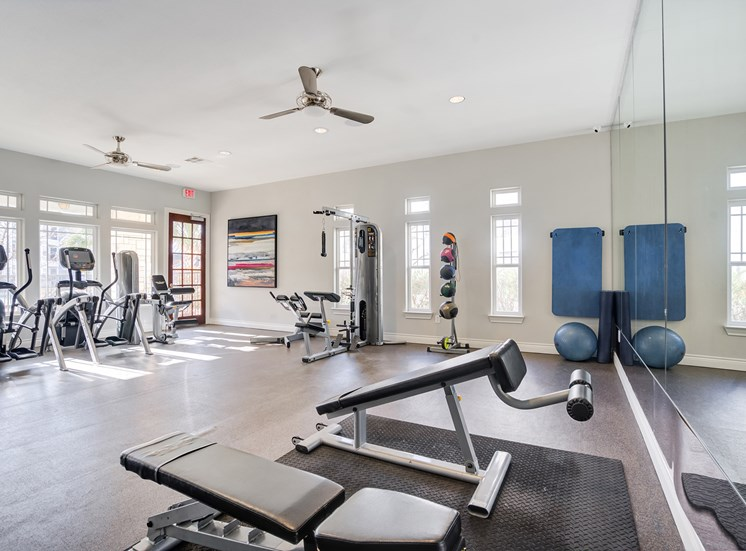 Residence at Midland fitness center.