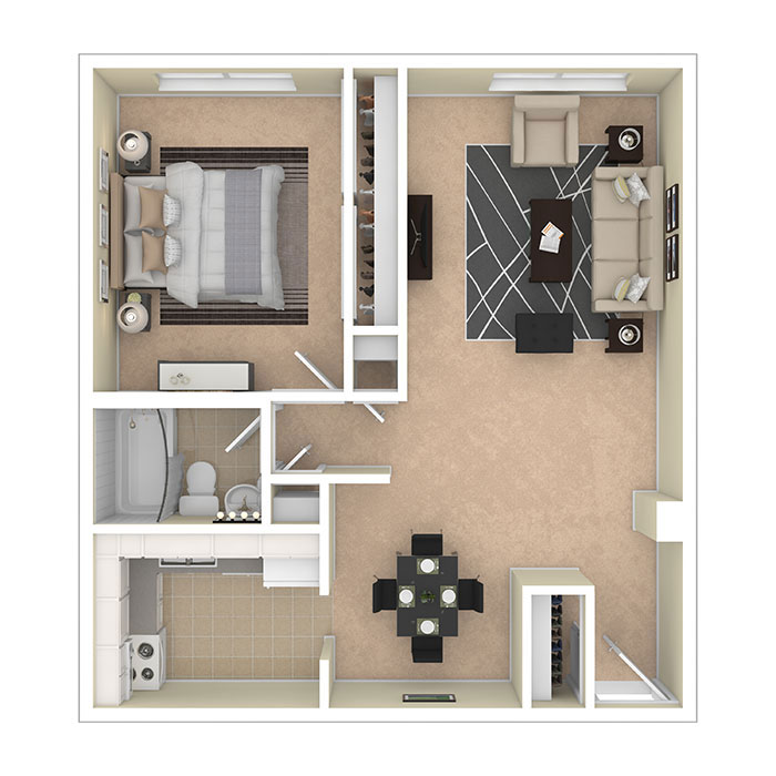 8600 Apartments One Bedroom A