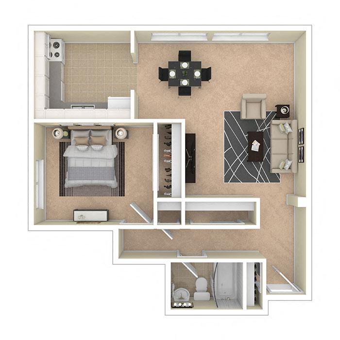8600 Apartments One Bedroom B