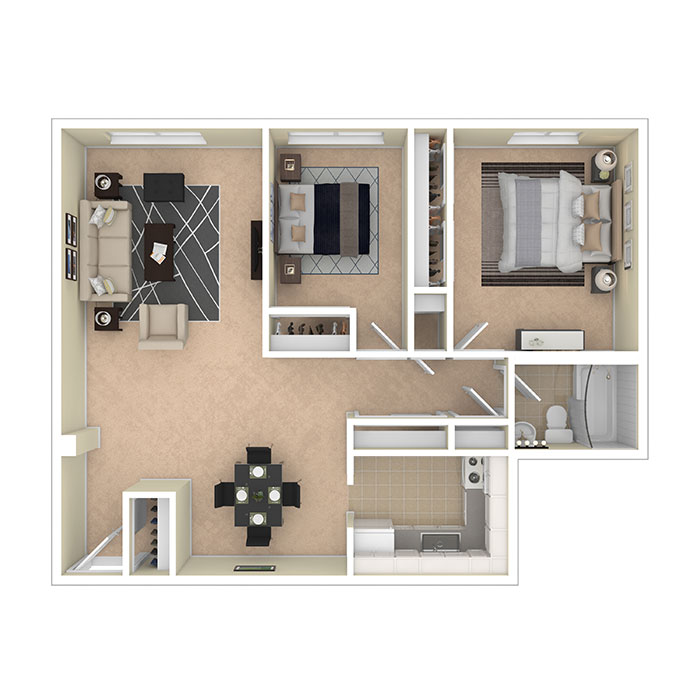8600 Apartments Two Bedroom A