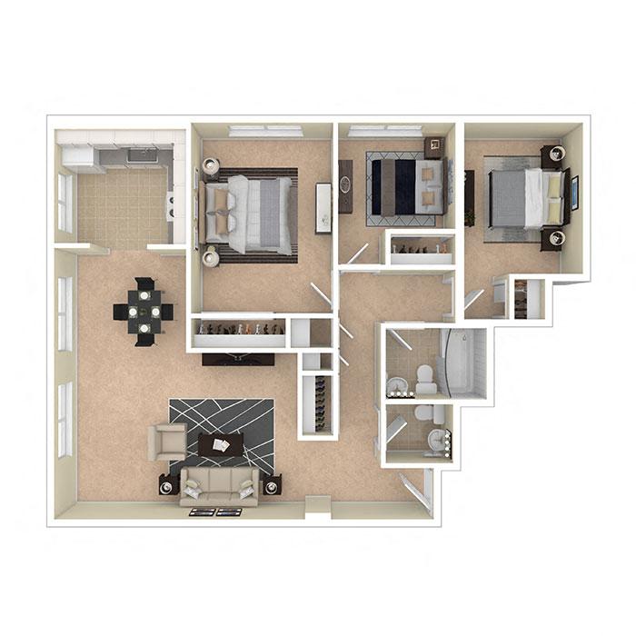 8600 Apartments Three Bedroom A