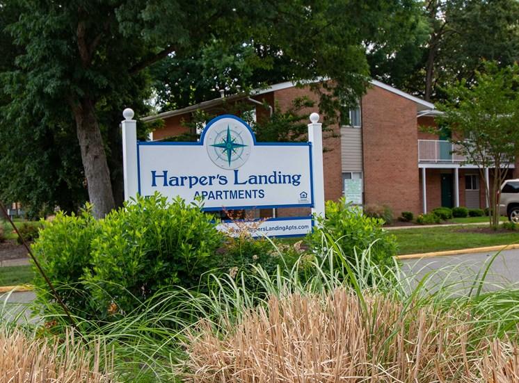 Harper's Landing Apartments Building Signage 39