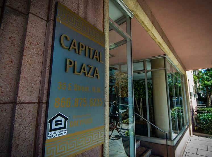 Capital Plaza Apartments Signage