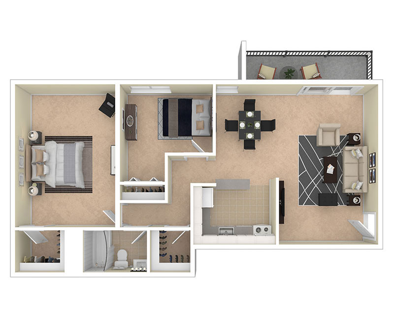 Clermont Apartments Two Bedroom