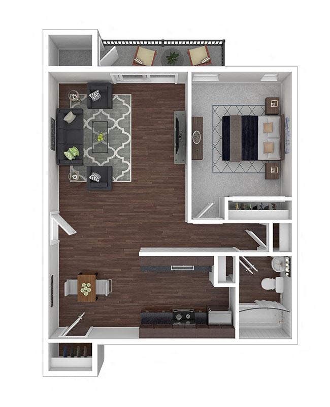 Crane Village Apartments One Bedroom A