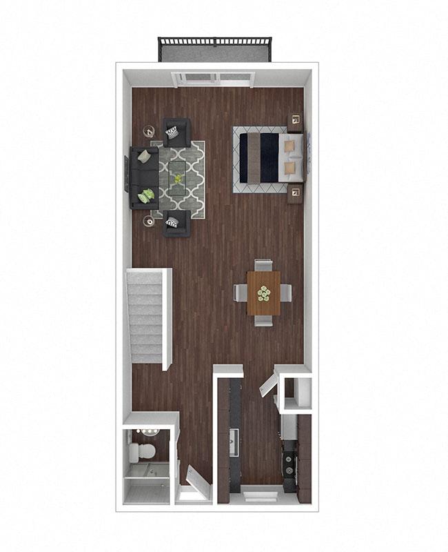 Crane Village Apartments Two Bedroom B