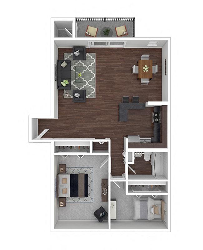 Crane Village Apartments Two Bedroom A