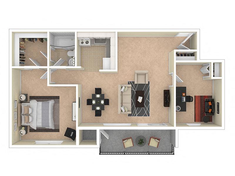 Del Vista Apartments One Bedroom Den