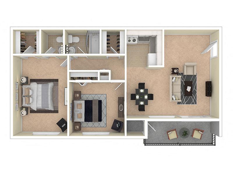 Del Vista Apartments Two Bedroom 1.5 Bath
