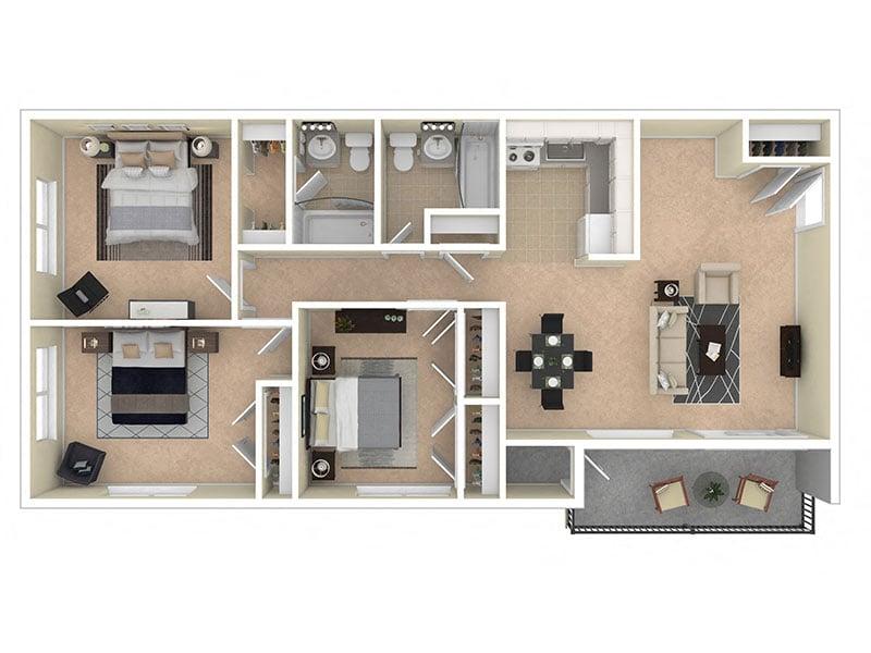 Del Vista Apartments Three Bedroom