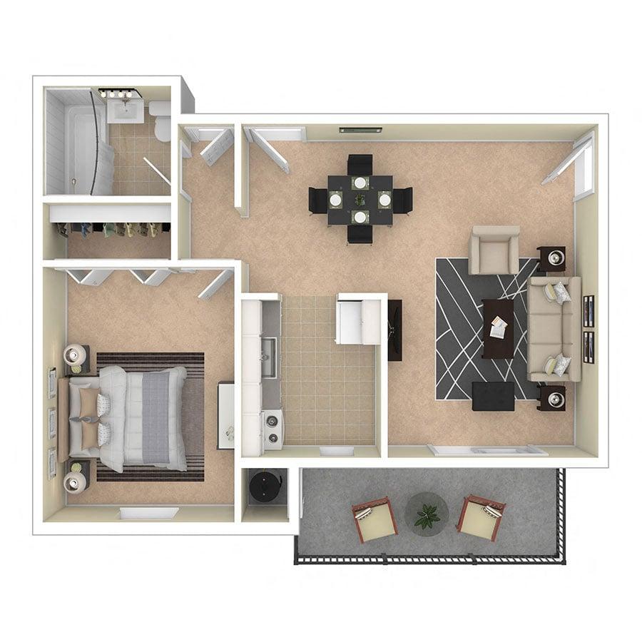 Glen Willow Apartments One Bedroom