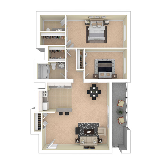 Hertitage Park Apartments Two Bedroom 1000