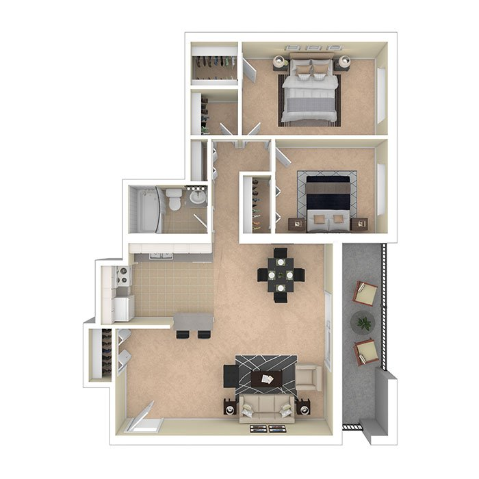Hertitage Park Apartments Two Bedroom 856