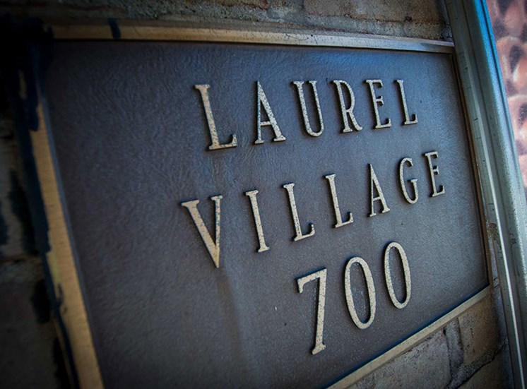 Laurel Village Apartments Building 700 Signage