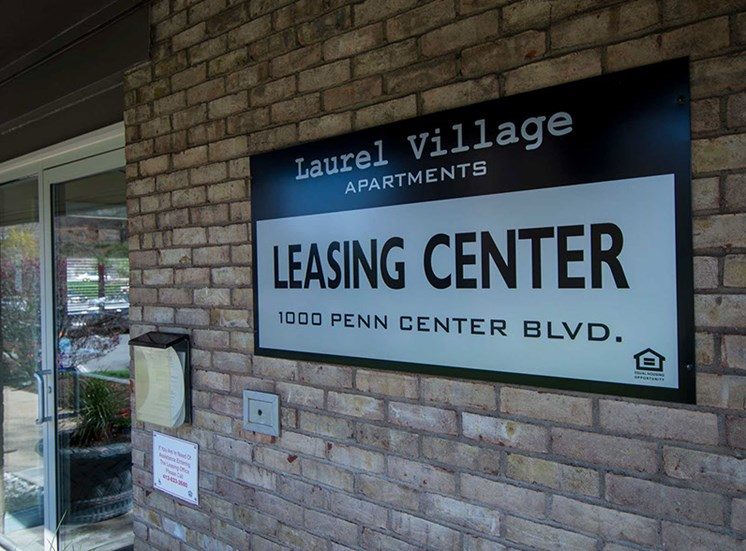 Laurel Village Apartments Leasing Signage