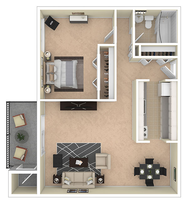 Laurel Village Apartments One Bedroom