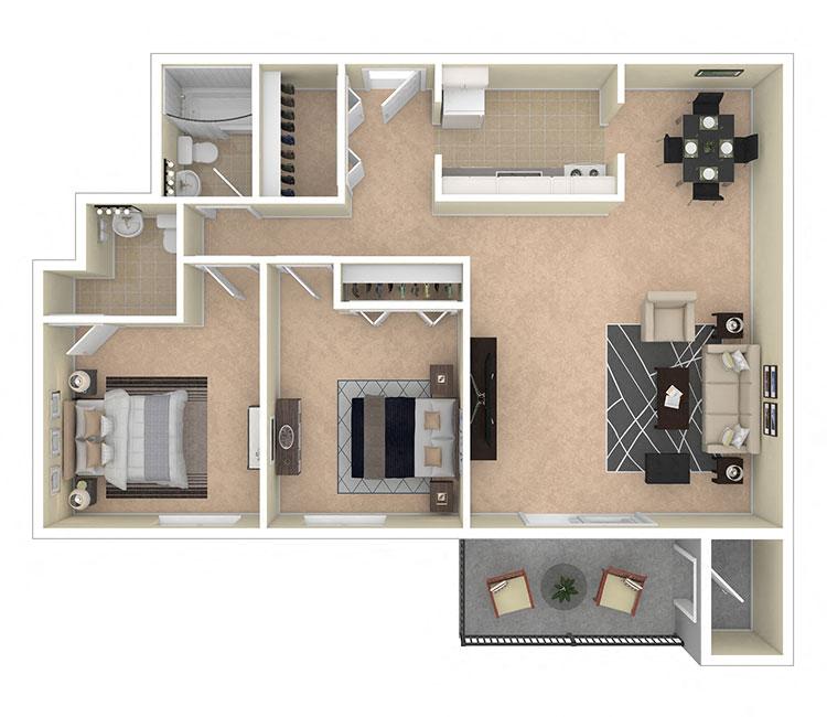 Laurel Village Apartments 2 Bedroom 1.5 Bath