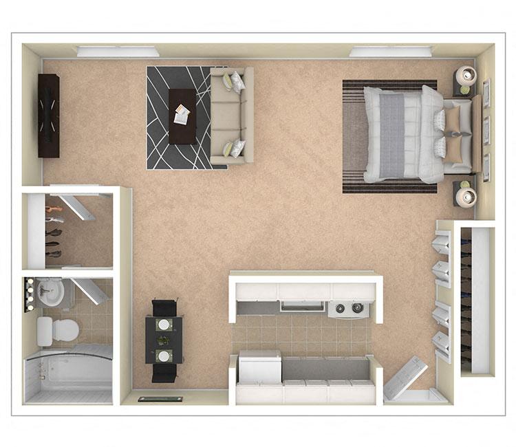 Laurel Village Apartments Studio