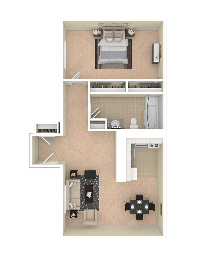 Lilly Gardens Apartments One Bedroom