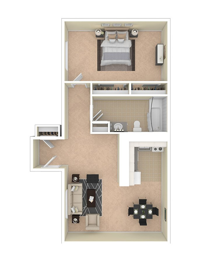 Lilly Gardens Apartments One Bedroom B