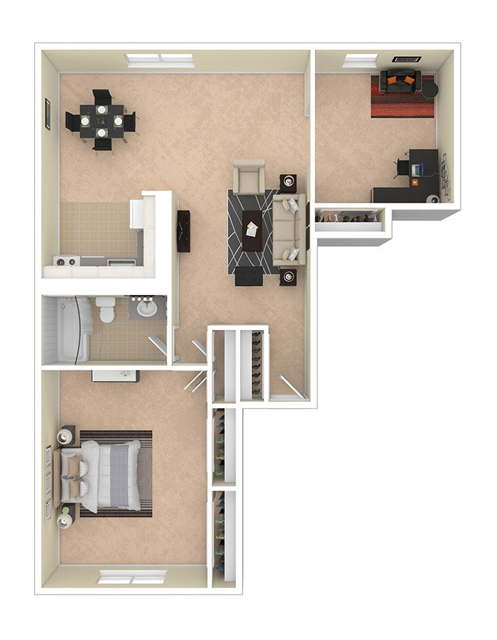 Lilly Gardens Apartments One Bedroom Den