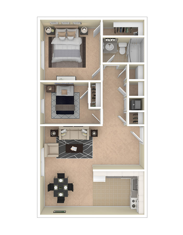 Lilly Gardens Apartments Two Bedroom A